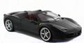 Ferrari 458 Spider Zwart Black Cabrio 1/18