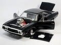 Dodge Charger 1970 The Fast and the Furious Zwart Black 1/18