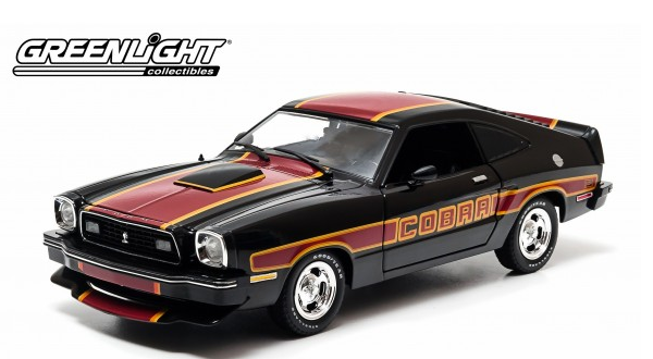 Ford Mustang1978 Cobra II Zwart Rood  Black Red 1/18