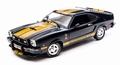Ford Mustang 1977 Cobra II Zwart Goud   Bkack Gold 1/18