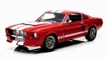 Ford Mustang Shelby GT500 1967 Rood Red Witte striping White 1/18
