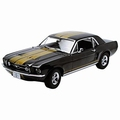 Ford Mustang GT 1967 Zwart Black Guden striping Gold 1/18