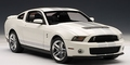 Ford Mustang Shelby GT500 Wit White silver stripes 1/18