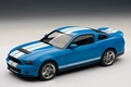Ford Mustang Shelby GT500 Blauw Gabber Blue  White stripes 1/18