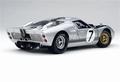 Ford GT 40 MK II 1966 Zilver Silver # 7 1/18