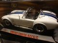Shelby Cobra 427 S/C Wit White   Blauwe striping Blue 1/18