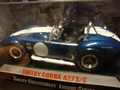 Shelby Cobra 427 S/C  Blauw Blue  Witte Striping White 1/18