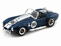 Shelby Cobra 427 S/C Blauw Blue Witte striping White # 96 1/18