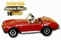 Shelby Cobra 1966 Rood Red  Cabrio  1/18