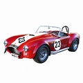 Shelby Cobra Rood Red  Witte striping White # 23 1/18