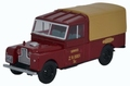 Land Rover serie 1 109 Rood Red + soft top beige 1/43