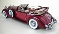 Horch 853  Cabrio 1937 Bordeaux Rood Red 1/24