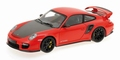 Porsche 911 GT2 RS 2011 Rood Red met zwarte velgen 1/18