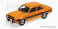 Ford Escort I RS 1600 FAV 1970 Oranje Orange Black stripes 1/18