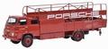 MAN 635 Renntransporter Porsche autotrailer Rood Red 1/18