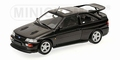 Ford Escort Cosworth 1992 Zwart metallic Black  1/18