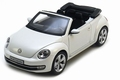 VW Volkswagen Beetle Kever Convertible Cabrio Wit Oryx White 1/18