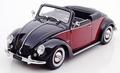 VW Volkswagen Beetle Kever Cabrio Hebmeuller Rood Zwart 1949 1/18