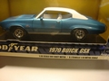 Buick 1970 GSX  Good Year Tires Blauw Wit   Blue White 1/18