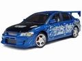 Mitsubishi 2002 Lancer Evolution VII Street Tuner Blauw Blue 1/18