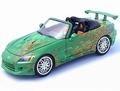 Honda  S2000 Street Tuner Groen  Green Cabrio 1/18