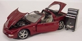 Chevrolet Corvette 2003 Cabrio + dak panelen Bordeaux red  1/18