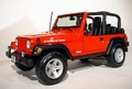 Jeep Wrangler Rubicon Rood  Red Cabrio 1/18