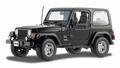 Jeep Wrangler Sahara Zwart  Black 1/18