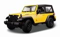 Jeep Wrangler 2014 Willys Geel Yellow Cabrio + softtop 1/18