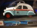 Citroen 2  CV  2PK Taxi 1957 Blauw Wit  Blue White 1/18