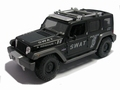 Jeep Rescue Consept Swat  Police 911 Polite Zwart Black 1/18