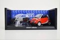 Smart Cabrio Rood Red + extra Body zwart black 1/18