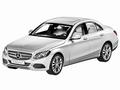 Mercedes Benz C Klasse Zilver Iridium silver metallic 1/18
