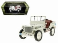 Jeep Willys 1/4 ton army truck UN Wit White Cabrio 1/18