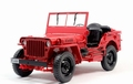 Jeep Willys 1/4 ton Army truck Rood Red 1/18