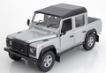 Land Rover Defender 110 Double Cab Zilver metallic silver 1/18