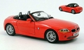 BMW Z4  Cabrio  Rood Red  1/18