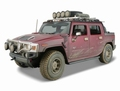 Hummer H2 SUT Concept Trophy Rood Red  dirt edition 1/18