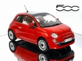 Fiat 500 Rood  Red 1/18