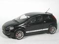 Fiat Punto Abarth Zwart  Black 1/18