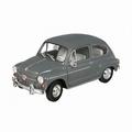 Fiat 600 D Grijs  Grey 1/18
