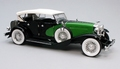 Duesenberg 1934 Zwart groen wit   Black green white 1/18