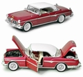 Chrysler Imperial 1955 Rood Wit   Red  White 1/18