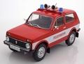 Lada Niva Feuerwehr Brandweer  Rood wit  Red White 1/18