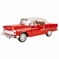 Chevrolet Chevy Bel air 1955 Rood wi  t  Red white 1/18