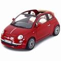 Fiat Nuova 500 Cabrio Rood Red 1/18