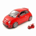 Fiat 500 Abarth  Rood  Red 1/18
