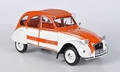 Citroen 2cv pk  Spot 1976 Oranje Wit  Orange White 1/18