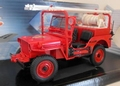 Jeep Willys Pompiers Brandweer Rood Red Departement du Cher 1/18
