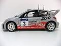 Peugeot 206 WRC Panizzi # 3 Total Clarion 1/18